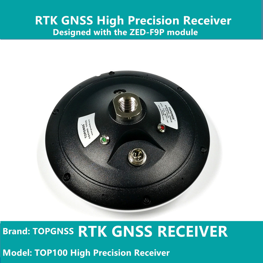 Conçu avec le module ZED-F9P F9, le récepteur GNSS haute précision RTK peut être utilisé comme station de base et rove TOPGNSS TOP100