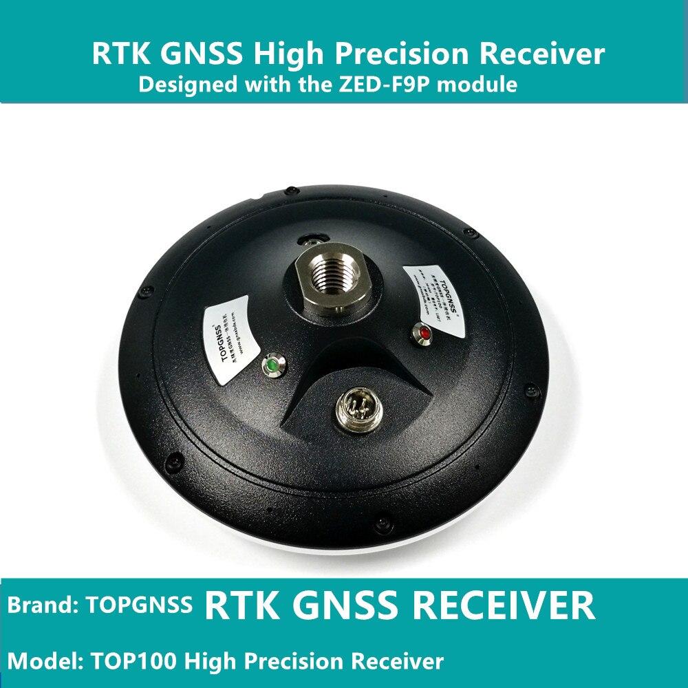 Diseñado con el módulo F9 de ZED-F9P, el receptor GNSS de alta precisión RTK se puede utilizar como estación base y rove TOPGNSS TOP100