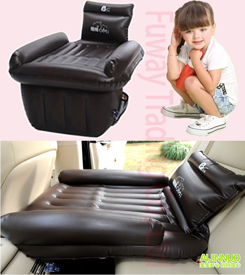 DHL Free Shipping!!!Children Car Inflatable Bed Car Back Seat Cover Air Mattress Travel Bed Inflatable Mattress Air Bed vehicle car accessories auto car seat cover back protector for children kick mat mud clean bk
