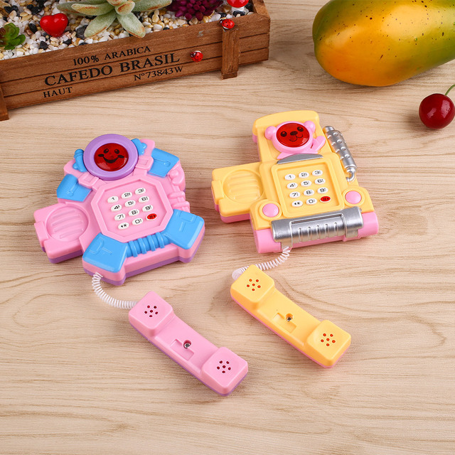 Developing Intelligence Educational Learing Baby Kid Cartoon Musical Phone Toy