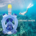 Diving Mask Underwater Scuba Anti Fog Full Face Diving Mask Snorkeling Set with Anti-skid Ring Snorkel 2016 New Arrival
