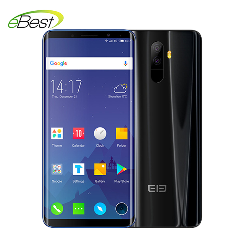 Elephone U 4G Mobile Phone 5.99 Inch MT6763 Octa Core 6GB 128GB Face ID Android 7.1 13MP Dual Back Camera 4G LTE Smartphone