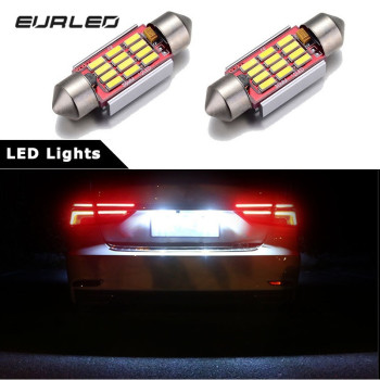 2x Car Led Canbus 36mm Festoon License Plate Lights For BMW E39 E36 E46 E90 E60 E30 E53 E70 F10 Error Free C5W Lamp 12V 6000K image