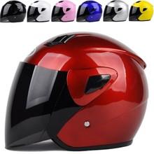 Новая мода высокое качество мужчины женщины Анти-туман Половина лица шлем безопасности для мотоцикла