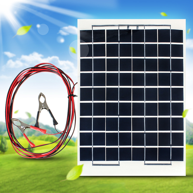 Brand New Brand New 10W 12V Cell Solar Panel Module Battery Charger RV Boat Camping 4M Cable