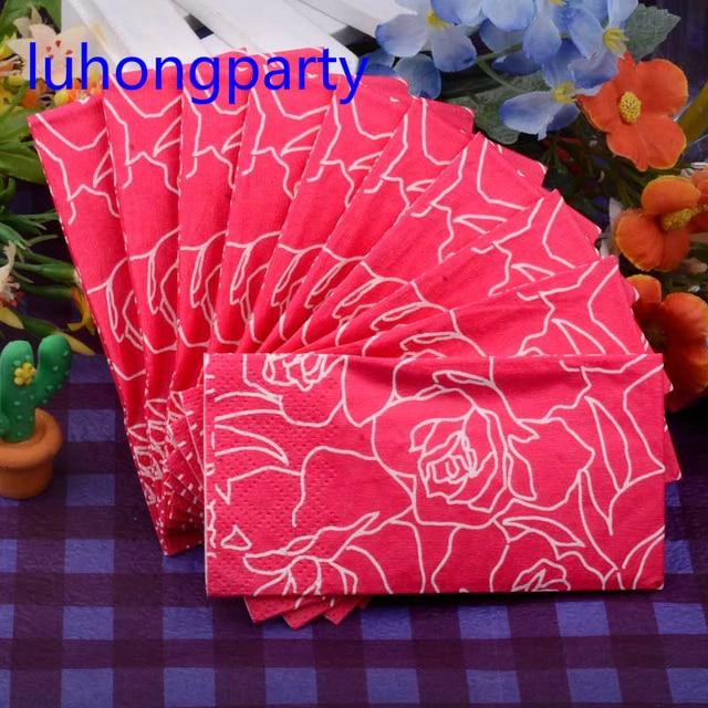 5 Packs Abstraite Rouge Rose Fleur Romantique Pratique Poche