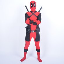 free ship Cool Lady Deadpool Costume Red full body spandex girl/women/man boy girl Costumes Two style deadpool costume