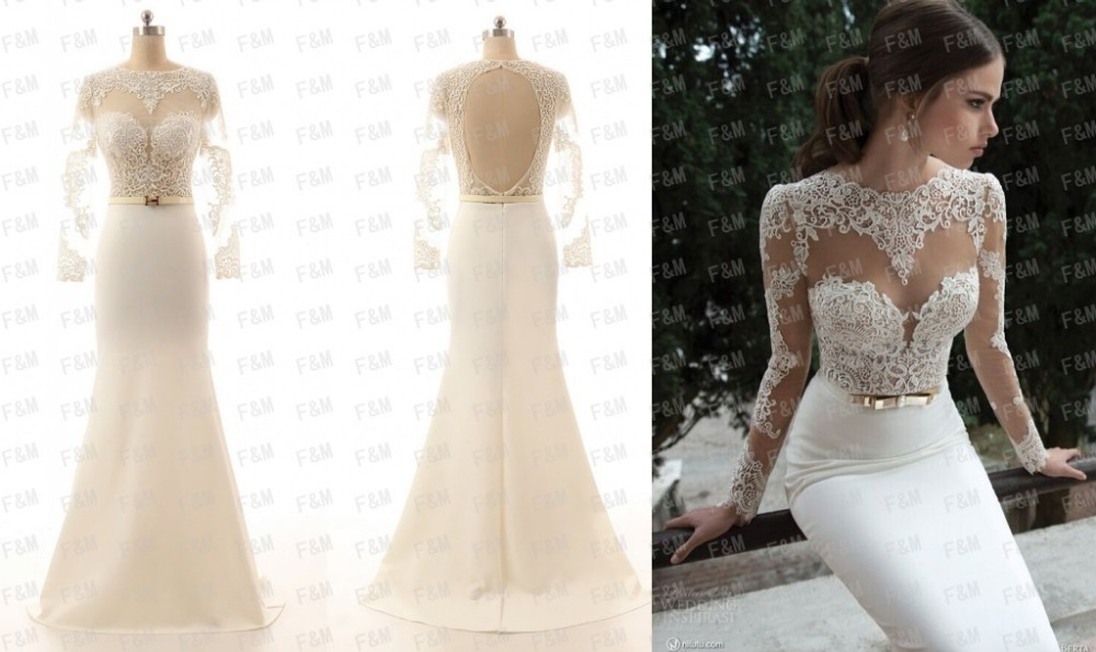 Elegant White Lace Formal Dresses