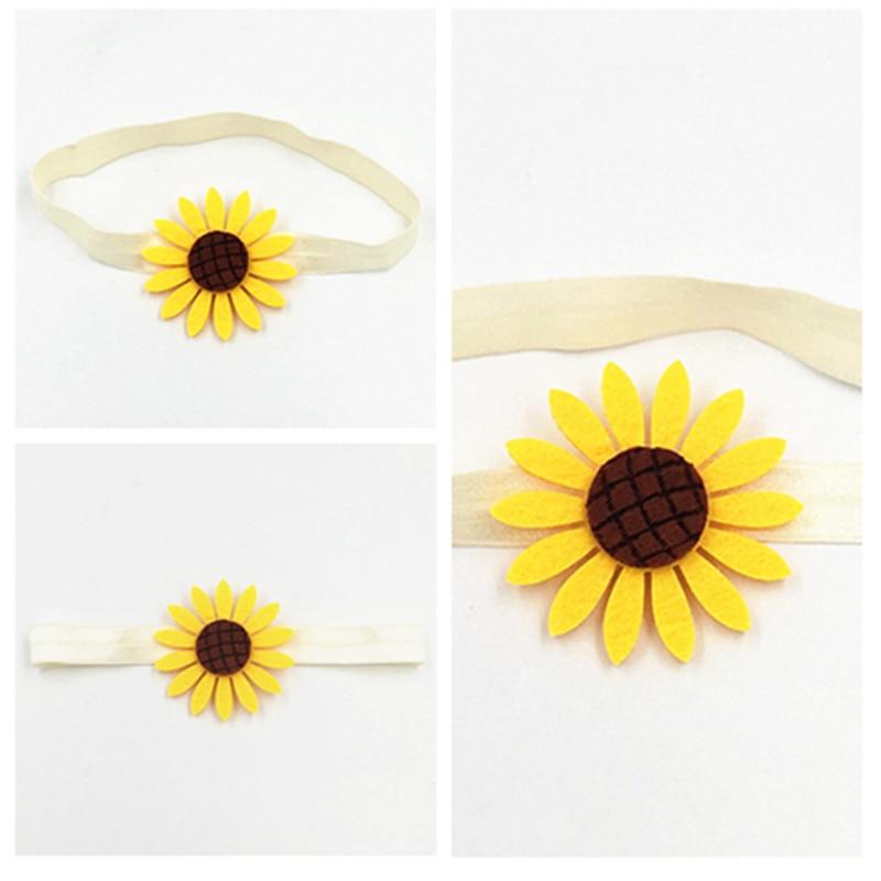 Sunflowers Headband Flowers Headdress Summer Hair Wheel Hair Accessories Sun