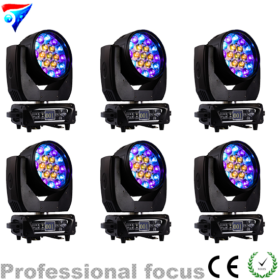 Free Shipping 6pcs/lot 2018 19x12W RGBW Led Beam Wash Zoom Moving Head Light Disco DJ Stage Light With Circle And Macro Effect free shipping 6pcs lot concert stage 6 in 1 zoom wash led par can 18x18w led par ip25 rgbw led wash with zoom