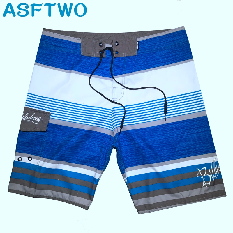 ASFTWO Boy's   Board     Shorts   Swim Trunks Male Polyester Surf   Shorts   For Mens Striped Home Bermuda Beach   Shorts   Large 30 32 34 36 38
