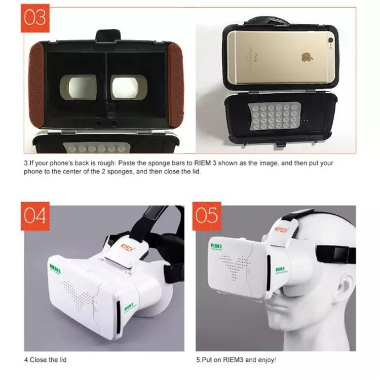 New Ritech III 3D VR Glasses RIEM3 Virtual Reality Head Mount Google Cardboard Oculus Rift DK2 Box for 4.7 ~ 6.0 Inch SmartPhone (22)