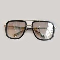 Square Sunglasses Men Brand Designer High Quality Double Bridge Sun Glasses UV400 Oculos De So Masculino Female Eyewear
