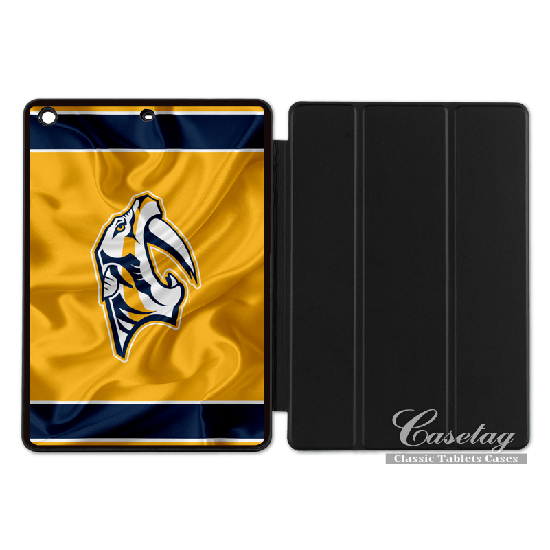 Nashville Predators Ice Hockey Flag Protective Cover Case For Apple iPad 2 3 4 Mini Air  ...