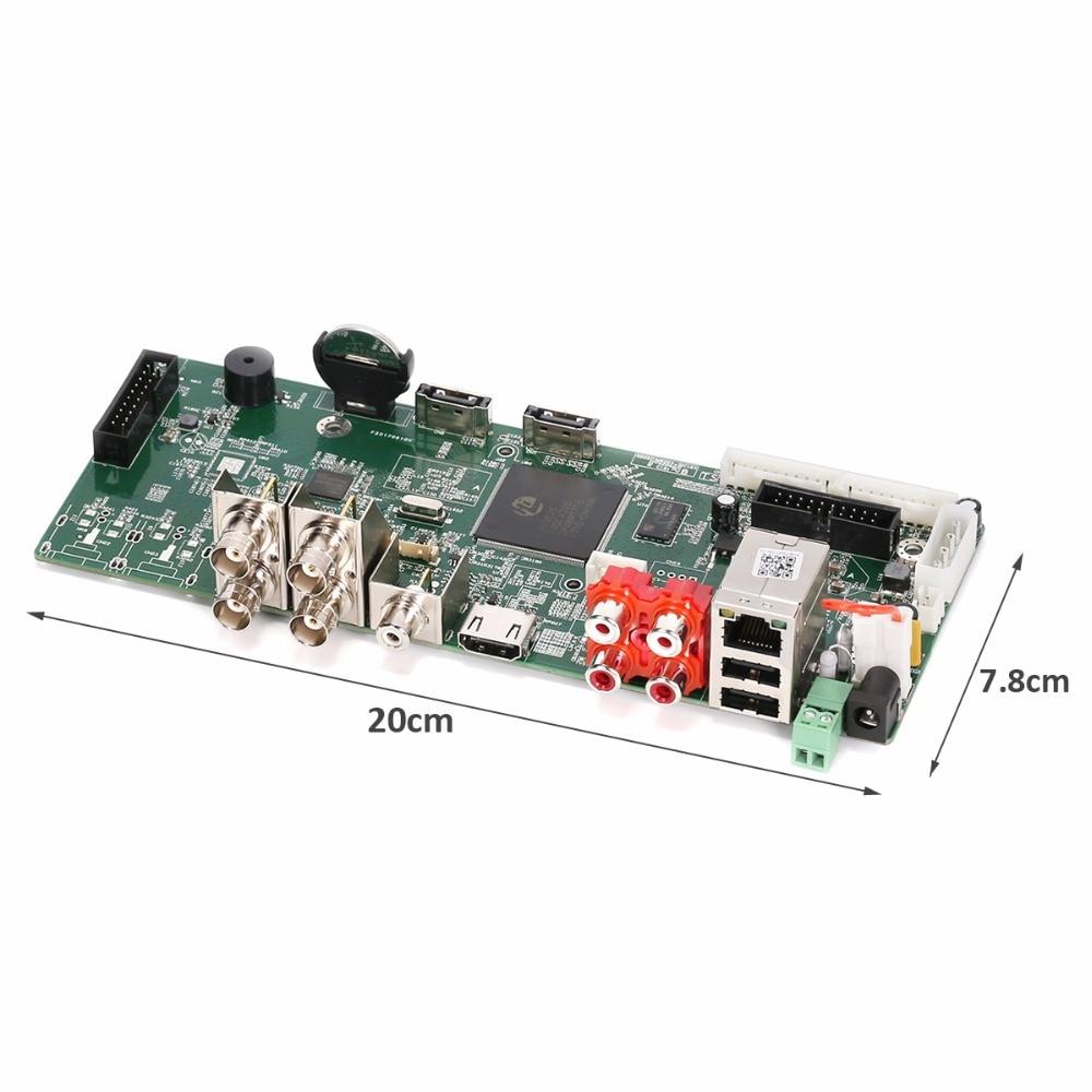 GADINAN Main PCB Security H.264+ AHD 4MP 4CH AHD DVR Recorder Video  Recorder 4MP AHD DVR For 3MP / 4MP AHD Camera XMEye ONVIF-in Surveillance  Video Recorder ...