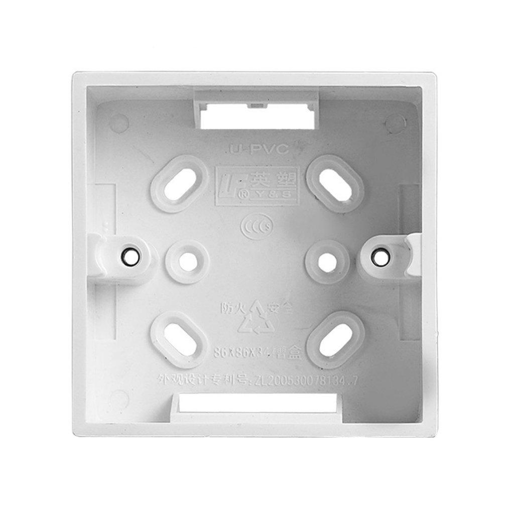 Surface Mounted Switch Box PVC Flame Retardant 86 Single Socket Mounting Box Panel Base Junction Box