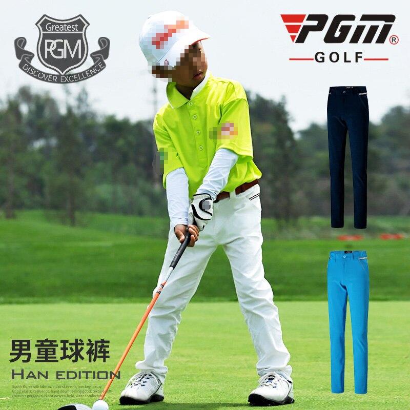 Meninos de Verão Calças de Golfe de Alta Elasticidade Respirável Sport Criança Sportwear Xs-xl Pgm
