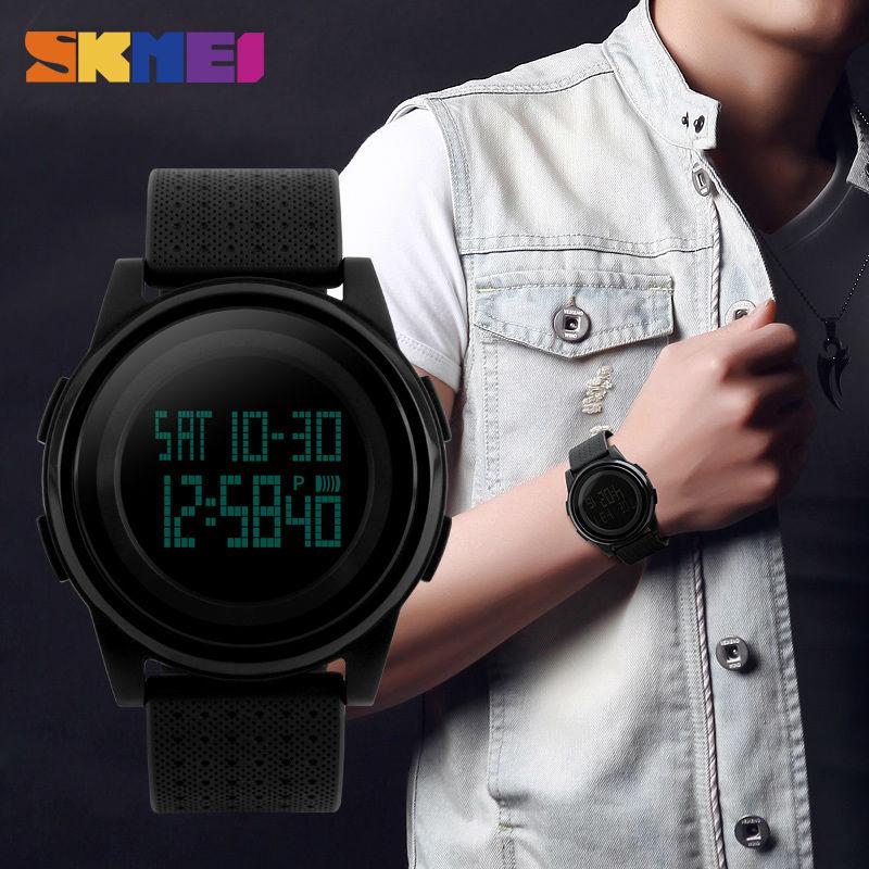 SKMEI Men Women LED Digital Watch Sport Thin Watches Waterproof Male Female Wristwatches Relogio Masculino Feminino Clock 1206