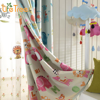 Children Curtains For Kids Room Boys Girls Bedroom Blue Tulle Curtain Baby Pink Window Drapes Custom