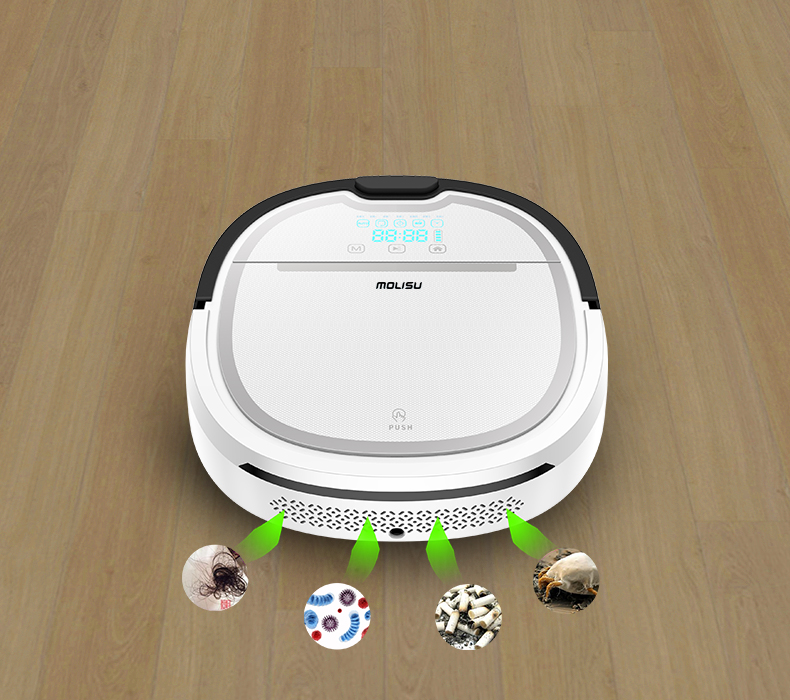 Newest A3 Wet and Dry Robot Vacuum Cleaner for home 750ml dustbin 180ml water tank Self charge Intelligent Vacuum cleaner multifunctional robot vacuum cleaner wet and dry small front wheel 3 pcs