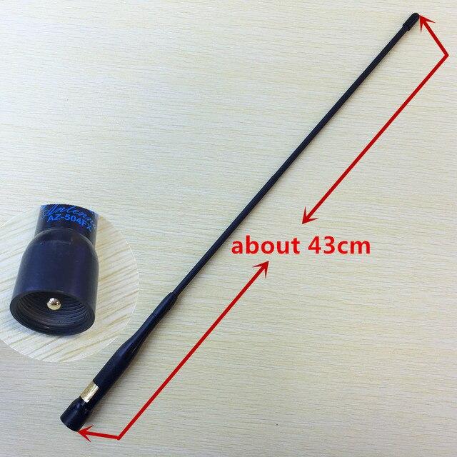 Original AZ504FX UV de Doble Banda 144/430 mhz de Alta Ganancia de la antena Flexible suave para motorola yaesu kenwood wouxun etc coche básico de radio
