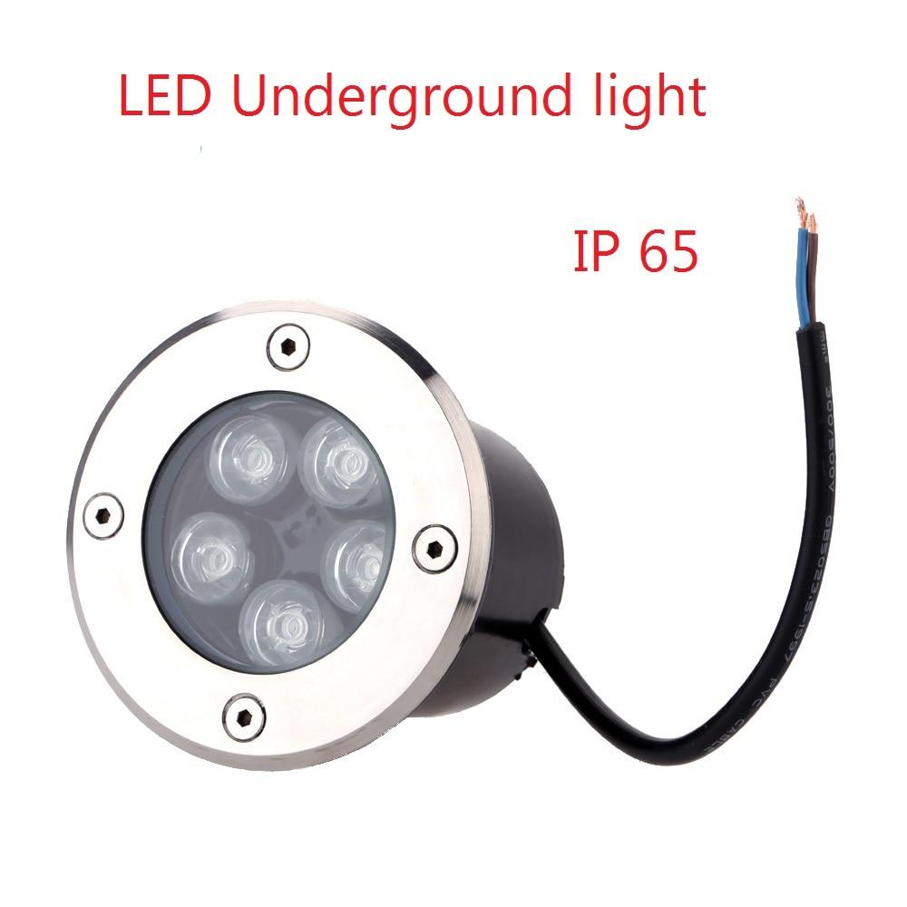 2019 Waterproof 5W LED Underground Light Ground Garden Path Floor Lamp Outdoor Underground Buried Yard Lamp Landscape Light