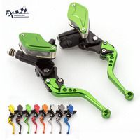 FX Motorcycle Master Cylinder Reservoir Hydraulic Brake Clutch Lever A Pair 8 Colors For 50CC 300CC