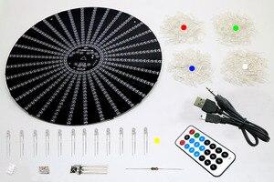 Image 2 - Zirrfa עבור IR מתג ריקוד אור cubeed, led מוסיקה ספקטרום אלקטרוני ערכת diy