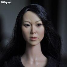 KUMIK 1/6 Scale Female head sculpt Carving Model Beauty Long Hair F 12