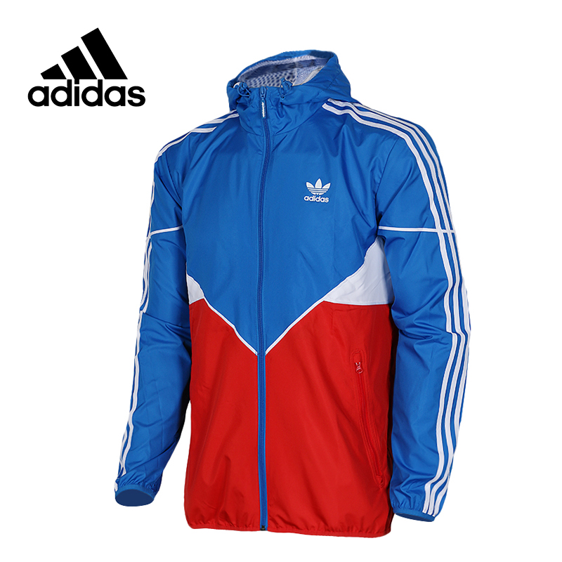 Original New Arrival Official Adidas Men's Windproof  Jacket Hooded Sportswear adidas original new arrival official women s tight elastic waist full length pants sportswear bj8360