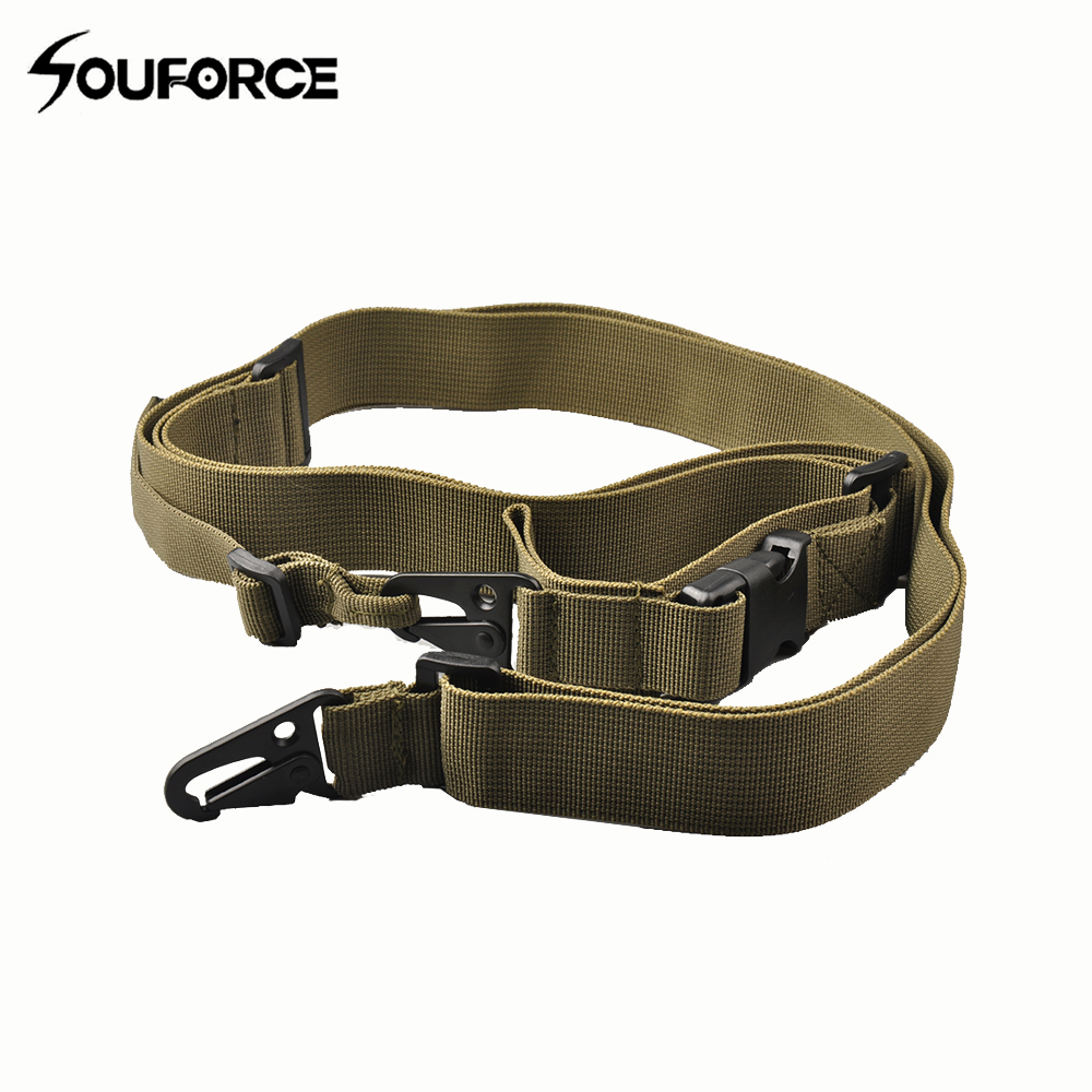 3 colores Tactical 3 puntos Multi-Mission Rifle Holder Sling con - Caza