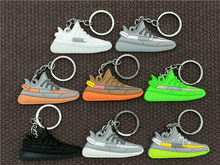 Belababy Mini Silicone BOOST 350 V2 Shoes Keychain Woman Men Kids Key Ring Key Holder Gift SPLY-350 Chic Sneaker Keychain(China)