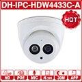 <font><b>DH</b></font> IPC-HDW4433C-A с логотипом 4MP HD POE, сетевые Инфракрасный мини-купол ip-камера starlight Встроенный микрофон CCTV камера заменить IPC-HDW4431C-A