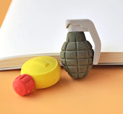 Freeshipping New Arrival 2016 School Eraser Grenade Eraser Kettle Eraser Gift Stationery Eraser for boys 20 pieces per lot