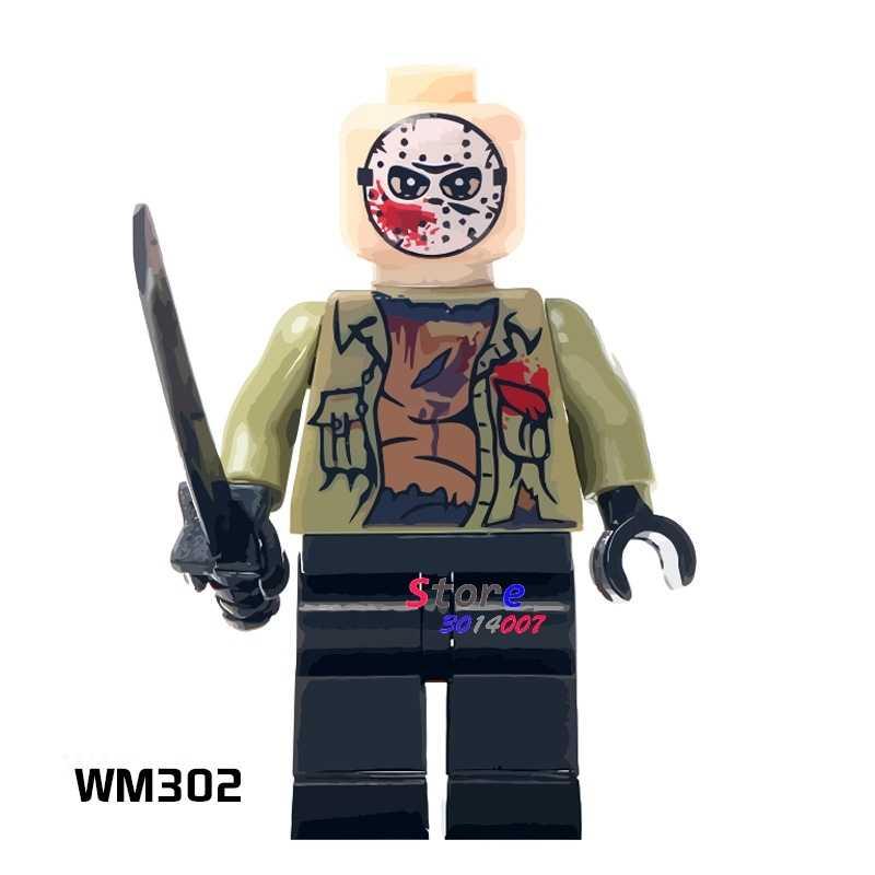 1PCS blocos de construção do modelo figuras de ação super-heróis starwars Jason Voorhees meninos jogos de casa de Bonecas diy brinquedos para presente de crianças