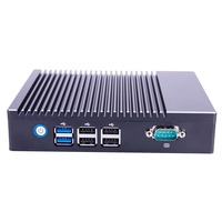 Dual Lan USB 3.0 Windows 10 Fanless Intel Mini Pc WIHI HDMI Slim Desktop Computer