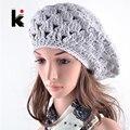 2017 Winter berets cap boina feminina Women hat Beret hand-crocheted hats for the women gorras planas bonnet