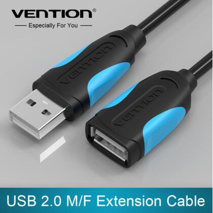 Vention USB 2.0 Male to Female USB Cable 2m 3m 5m Extender Cord Wire Super Speed Data Sync USB2.0 Extension Cable For PC Laptop usb data sync transfer extender cable usb2 0 male to female extend extension cable cord lead for computer pc laptop