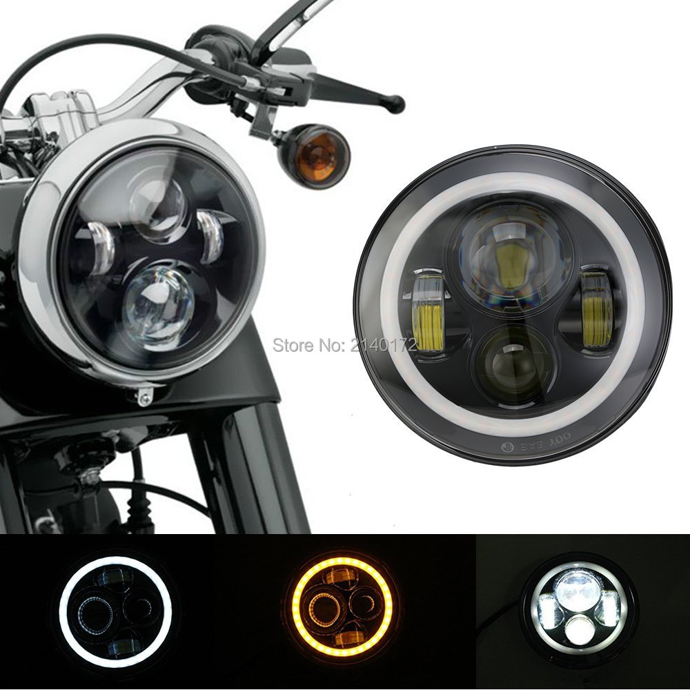7 39 39 inch 40w round led headlight high low beam with led. Black Bedroom Furniture Sets. Home Design Ideas