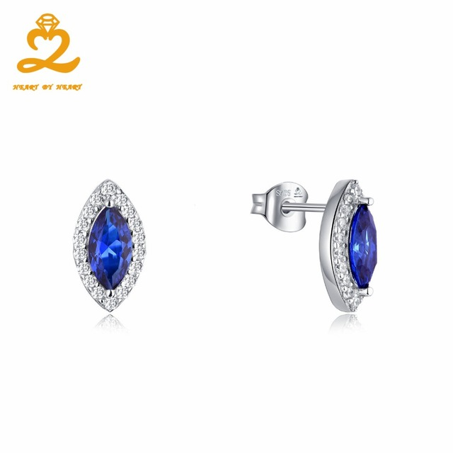 HeartByHeart Blue Eyes Jewelry Earrings Brand Top Quality Spinel
