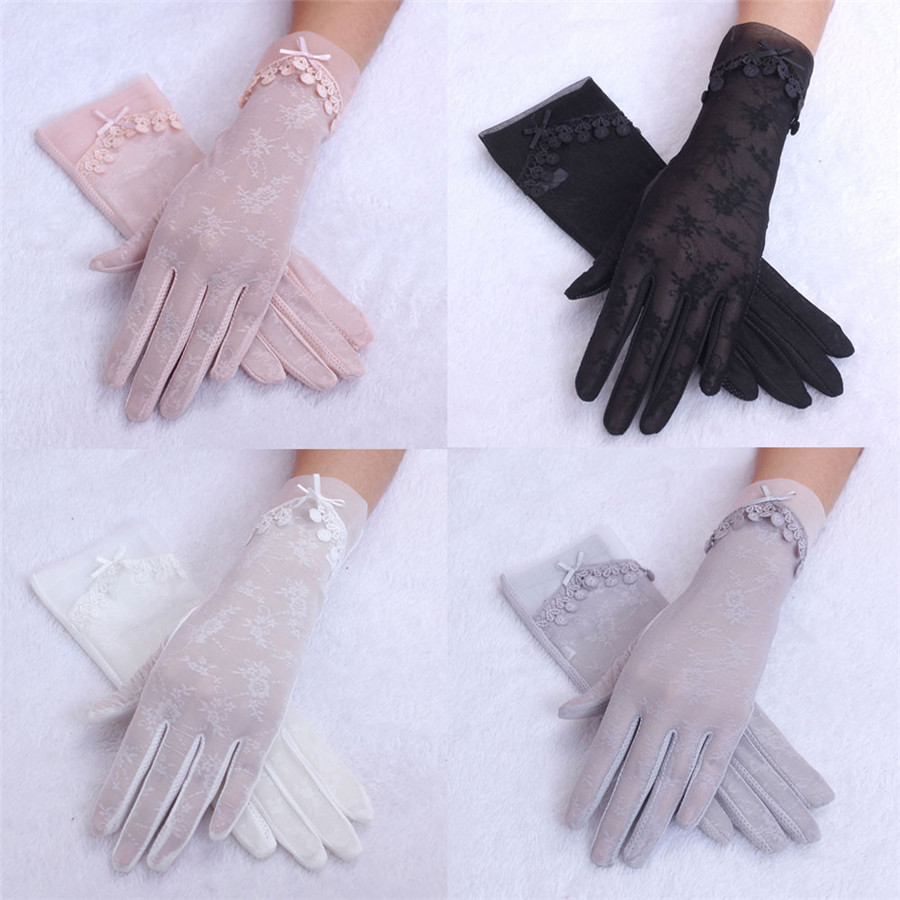 New Style Womens Summer UV-Proof Driving Gloves Gl