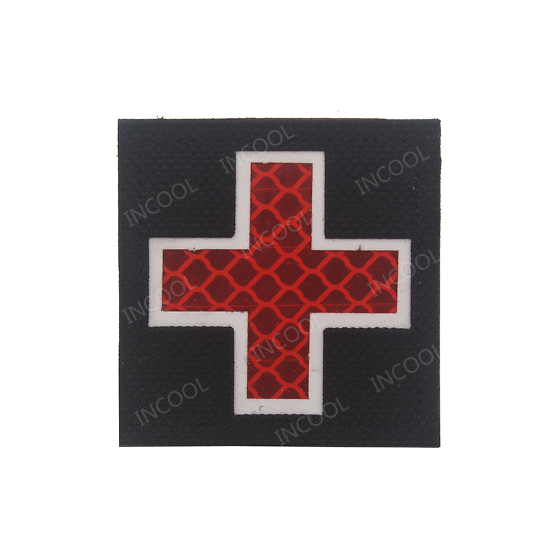 Music Memorabilia Original 3d Medic Red Cross Patch Reflective Emt Ir Patches Military Tactical Morale Patch Rubber Biker Fastener Pvc Glow In Dark Badges
