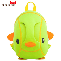 NOHOO 3D Duck Kids Baby Bags Waterproof Zoo Animals School Bags Boys Girls Kindergarten Children School Bags for 2 6 Years Old