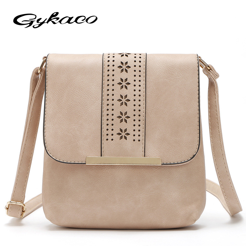 Gykaeo Daily Small Leather Flap Women Messenger Bag Casual Shoulder Bag Lady Handbag Purse Crossbody Cross Body Bag for Travel j m d crazy horse leather women flap messenger bag casual sling bag small lady purse c005b