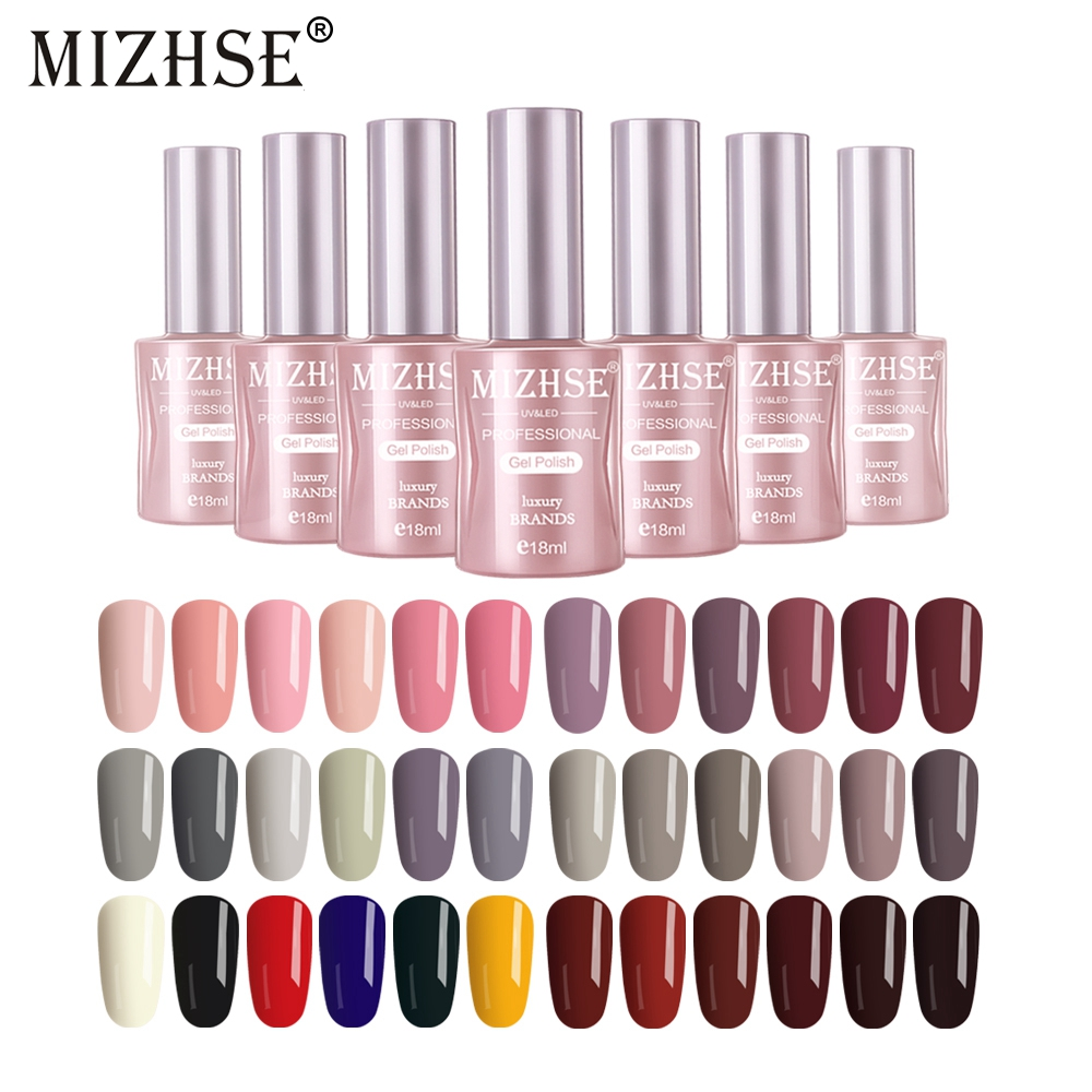 MIZHSE Gel Polish Set All For Manicure UV Vernis Semi Permanent Primer Matt Top Coat Soak Off Enamel Gel Polish Gel Lak in Nail Gel from Beauty Health