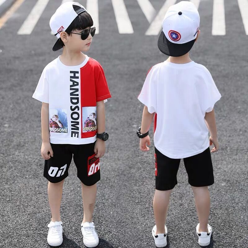 Teens Handsome Boys Clothing Set T-Shirt Shorts Cotton Sport Suit Summer Outfits Boy Clothes Sportwear for 4 5 6 7 8 9 10 Years