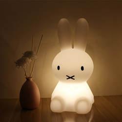 H28CM светодио дный кролик ночник USB для детей подарок для маленьких детей с рисунками животных декоративные лампа прикроватная Спальня