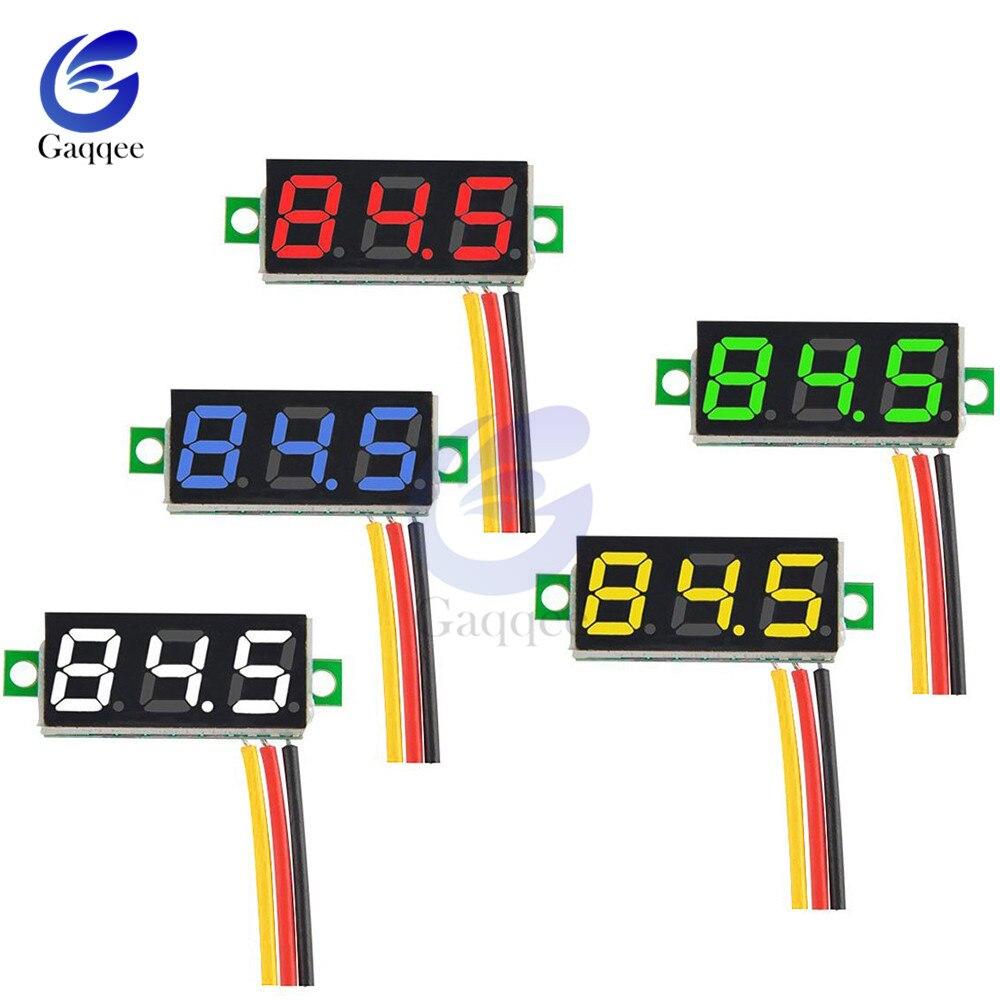 0,28 Zoll Mini Dc 0-100 V 3-draht Gauge Spannung Meter Voltmeter Digitale Led-anzeige Digital Panel Meter Detektor Monitor Werkzeuge ZuverläSsige Leistung