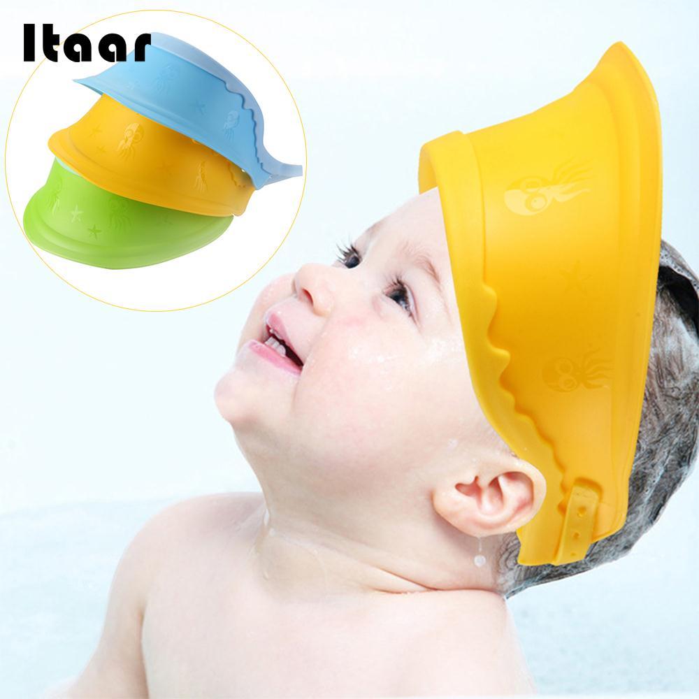 Baby Shampoo Hat Infant Shampoo Cap Baby Shampoo Cap Visor Newborn Useful Kids Adjustable 3 Colors Children Creative Waterproof