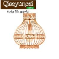 Qiseyuncai Kreatywny Bliski Wschód style rose złota Żelaza wejście salon oświetlenie E27 Żyrandol Southeast Asian osobowości